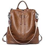 Damen Rucksack Handtaschen Mode PU Leder Schultertasche Daypack Umhängetasche Reiserucksack