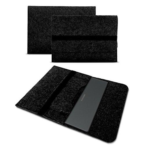 UC-Express Sleeve Hülle für Medion Akoya E3222 E3223 13,3 Zoll Tasche Filz Notebook Cover Laptop Etui Schutz Case sicherer Verschluss, Farbe:Dunkel Grau