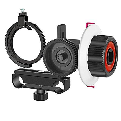 Ringe Skala, Schwarze (Neewer Follow Focus mit Zahnrad Ring Gürtel für Canon Nikon Sony und andere DSLR-Kamera Camcorder DV Video passt 15mm Rod Film machen System, Schulter Unterstützung, Stabilisator, Film-Rig (rot + schwarz))