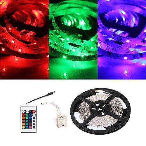 Preisvergleich Produktbild TOOGOO(R)5m 300 SMD LED RGB Licht Streifen + Fernbedienung 3000LM