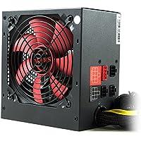 Mars Gaming MPII750 - Fuente de alimentación modular gaming para PC (750W, ATX, ventilador 12cm, PFC activo, rail único 12V, 14dB, eficiencia 85+, ultrasilencioso y antivibraciones), color negro