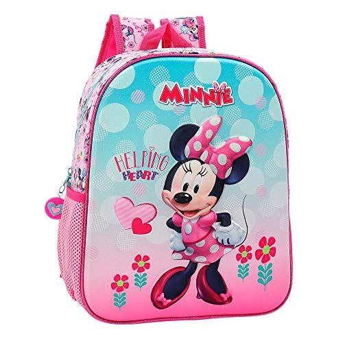 Disney Minnie Heart Zainetto per bambini 33 centimeters 9.8000000000000007 Rosa