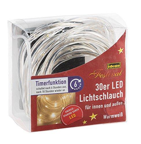 Über Moderne Anhänger Beleuchtung (Idena LED Lichtschlauch 30er, mit Timer, für Innen und Außen, batteriebetrieben, warmweiß, 10035002)