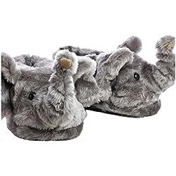 Sleeper'z – Elefante – Zapatillas de casa animales originales y divertidas – Adultos y Niños - Hombre y Mujer – XL