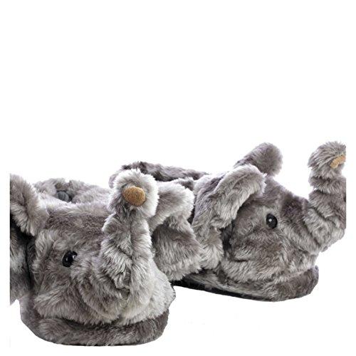 Sleeper'z Hausschuh Elefant - Geschlossene Plüsch-Pantoffeln - Größe S