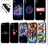 lotuwio Avengers Endgame Marvel Iron Man Thanos Housse De Téléphone Souple pour Iphone XR X XS 11 Pro Max 6 6S 7 8 Plus Tom Holland Housse pour Iphone 7 8 5