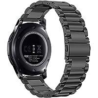 Fintie Samsung Gear S3 Cinturino, 22mm Sostituzione Bands in Acciaio Inossidabile per Galaxy watch 46 mm/Gear S3 Frontier/Gear S3 Classic/Moto 360 2nd Gen Smartwatch, Nero
