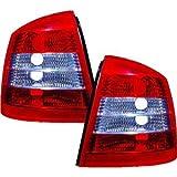 in.pro. 1805596 HD Rückleuchten Opel Astra G , Baujahr: 97-04, klarglas, rot-weiß