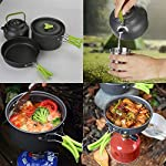 Aitsite Camping Cookware Kit Outdoor Aluminum Lightweight Camping Pot Pan Cooking Set for Camping Hiking 14