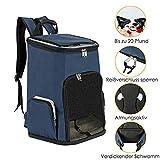 YHYGOO Rucksack Faltbare Haustier-Tasche Hundetasche Transporttasche für Hunde und Katzen Faltbarer Rucksack zum täglichen Wandern