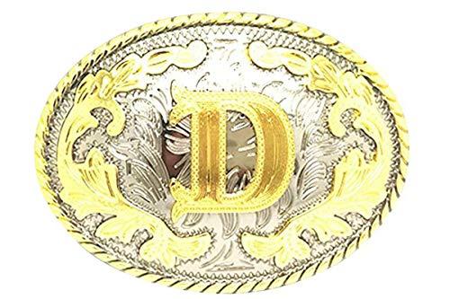 Bai You Mei - Hebilla de cinturón - para hombre Dorado Gold D Talla única