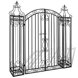vidaXL Cancello ornamentale in ferro