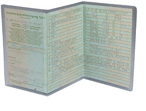 L&P A250 1 Stück KFZ Fahrzeugschein Schutzhülle 3 teilig Fahrzeug Schein Etui KFZ Hülle Schutzfolie aus PVC Motorrad Krad transparent (1)