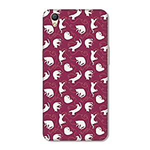 HAPPYGRUMPY DESIGNER PRINTED BACK COVER FOR OPPO A37
