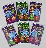 Confezione da 12 Monster Mini Spirale Taccuini - Bambini Riempitore Di Partito Bottino Borsa