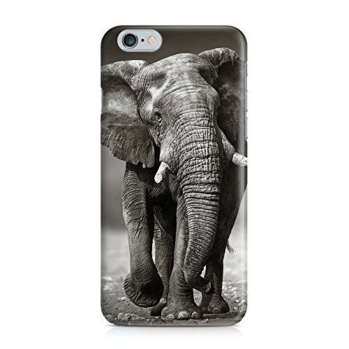 (COVER Elefant Afrika Tier Safari Design Handy Hülle Case 3D-Druck Top-Qualität kratzfest Apple iPhone 6 6S)