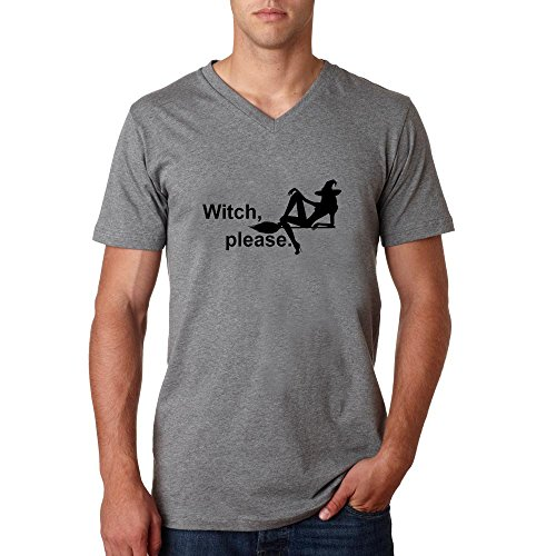Witch please funny slogan Herren baumvolle V-neck t-shirt Grau