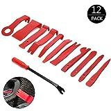 Auto Demontage Werkzeuge,YIKANWEN Zierleistenkeile-Set Türverkleidungs-Lösewerkzeug /Automotive Reparatur Werkzeug Universal für Entfernung Auto Türverkleidung und Platten ,12-teilig,Rot