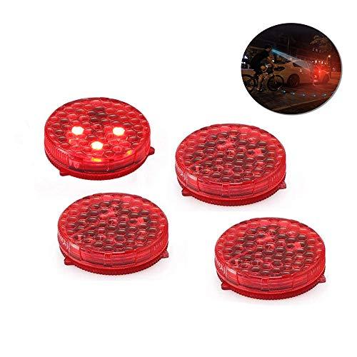 Onerbuy Spia per auto universale 4 spie Spia anti-collisione luci di sicurezza a LED Strobe lampeggiante Apribile a riflettore lampada Auto On/Off con 3 modalità di lampeggio
