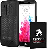 PowerBear LG G3 Extended Battery [6500 mAh] with Cover &