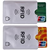 Universal RFID Blocking Credit Card Sleeves | 10 Pack of Contactless Card Protection Holders for Identity Theft Protection -