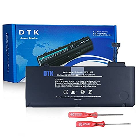 Dtk® New Laptop Battery for APPLE A1322 A1278 (Mid 2009, Early 2010, Early / Late (Netbook 6 Cell Battery)