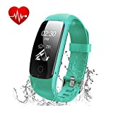 Fitness Tracker Watch, Runme Activity Tracker with Heart Rate Monitor, Bluetooth Pedometer with Sleep Monitor, IP67 Water Resistant Smart Watch Bracelet Wristband with Call/SMS Remind for iOS Android Smartphone
