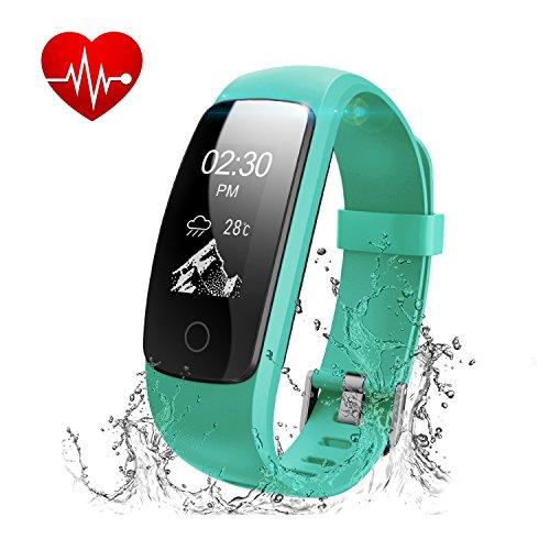 Fitness Tracker,Runme Fitness Armband Herzfrequenz,Fitness Watch mit Schrittmesser,Smart Armband IP67 Wasserdicht Bluetooth Schlafüberwachung,Smart Fitness Watch mit Anruf/SMS für iOS/Android Smartphone