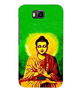 Fiobs Designer Phone Back Case Cover Huawei Honor Bee :: Huawei Honor Bee Y5c ( Gautama Buddha Trendy Hindu God )