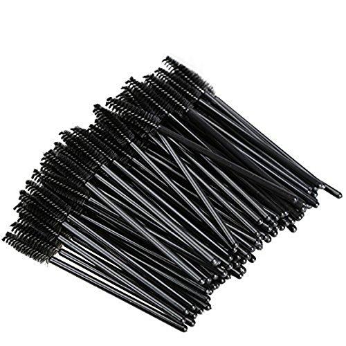 Westeng Lot de 50 Brosse à Cils Jetable plastique faux cils Pinceau Maquillage Pinceaux à cils pour les cils et les sourcils