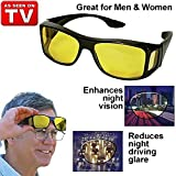 #5: Saiyam HD Vision Wrap Arounds Day & Night HD Vision Goggles Anti-Glare Polarized Sunglasses Men/Women Unisex Wear Driving Glasses Sun Glasses and Night Vision Glasses Combo Pack UV Protection car Drivers Fits Over Your Prescription Glasses