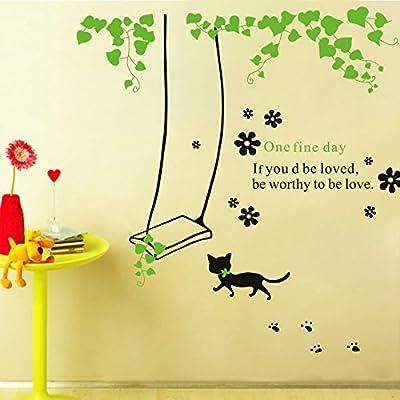 HCCY Cartoon Farm Fresh Persische Katzen und Wand - Kinderzimmer Schlafzimmer Wohnzimmer TV Hintergrund fliesen Aufkleber Poster 130 * 140 cm