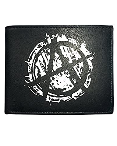 ANARCHY SYMBOL- Punk Logo Men's Leather Wallet from FatCuckoo