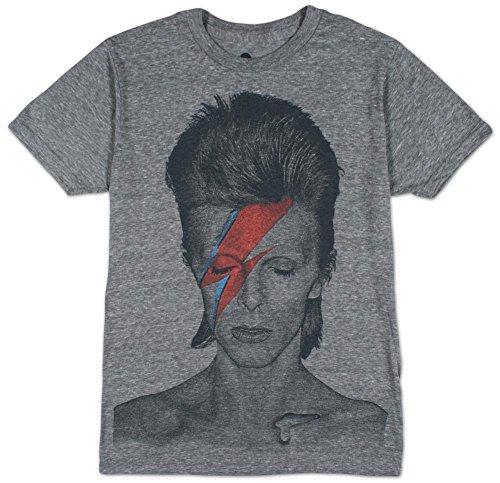 David Bowie - Männer Aladdin Sane Big Print U-Bahn T-Shirt in Tri-Blend Tri-Blend