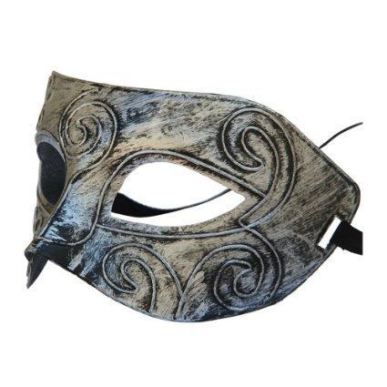 Boolavard TM Jazz Máscara para Hombre Máscaras de Disfraces de Halloween Máscara de Fiesta de Baile Veneciano (Plata)