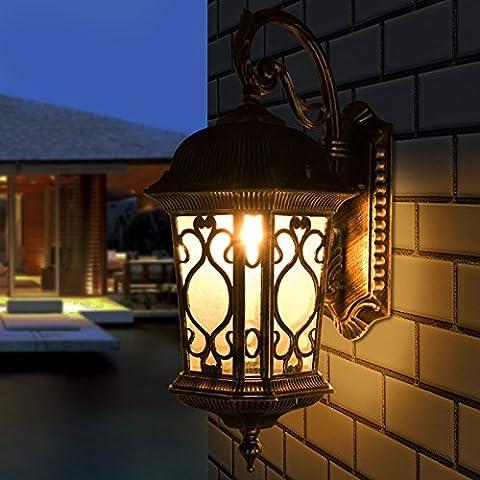 GHT.A Continental retrò impermeabile minimalista cinese antiruggine patio/balcone vista giardino prato terrazza vista camera da letto luci Wc Lampada da parete del ristorante prima di lampada a specchio
