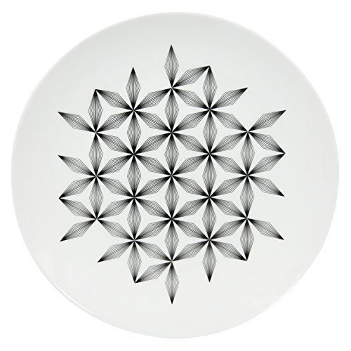 Novastyl - 8011461.0 - Badiane - Assiettes Plate - Noir - Lot de 6