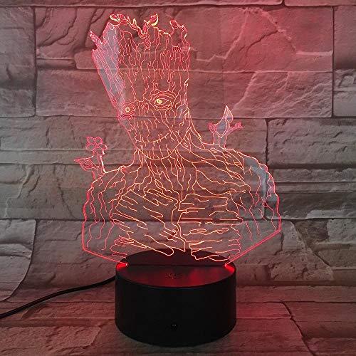 Für Kinder Neuheit Groot Guardians Led Lichter Halloween Dekoration Geschenke Kinderferien Usb 7 Farbwechsel Lava Lampe Kinder Hobby Boot ()