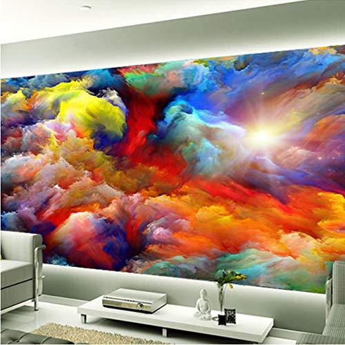 Anpassbare Hochwertige Wandbild 3D Farbe Kunst Abstrakte Wolken Wohnzimmer Hintergrund Wand Foto Tapete Kreative Hauptdekoration 450 (B) X 300 (H) Cm - Disney Tapete, Mädchen, Kinder,