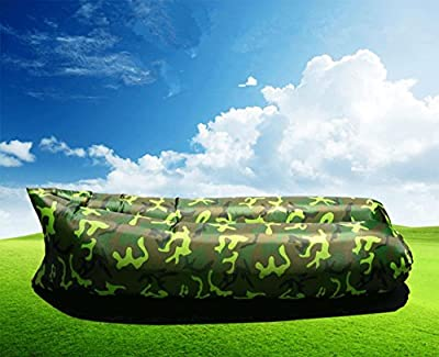 Waterproof Inflatable Lounger Portable Inflatable Sofa Air Bed Sleeping Sofa Couch, Outdoor Beach, Travel, Camping - inexpensive UK light shop.