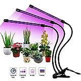 Everwell LED Pflanzenlampe, 27W Pflanzenlicht Pflanzenleuchte mit Timing-Funktion, 3 Modus, 8 Arten von Helligkeit, 360° Einstellbar Grow Lampe Geeignet Gewächshaus Innenpflanzen Blumen Gemüse