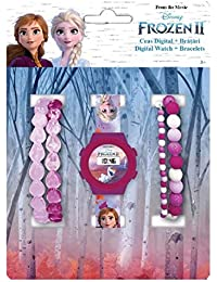 Disney Set Reloj Digital + Pulseras Frozen 2
