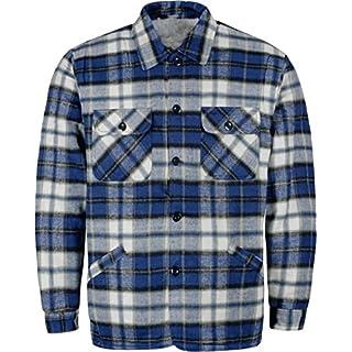 normani Herren Thermohemd Winterhemd Thermojacke Hemdjacke Blau/Weiß-Kariert Gr. S-XXXL Größe S