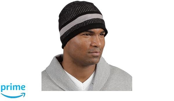 5db9ef910 Minus33 Merino Wool Granite Beanie Hat, Black/Grey, One Size: Amazon ...