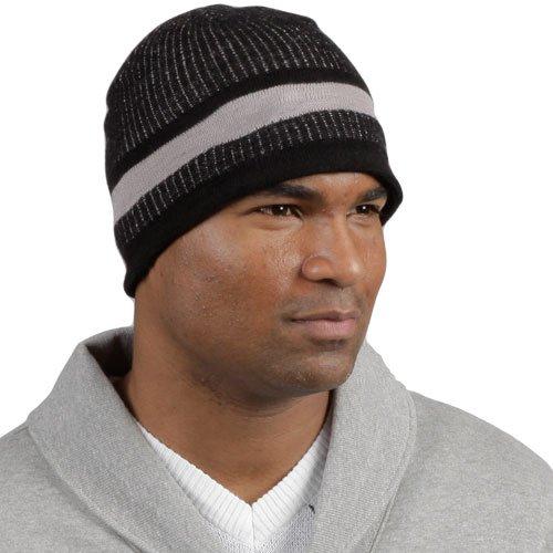Minus33Merinowolle Granite Beanie Hat, Damen Herren, 601, schwarz/grau, Einheitsgröße - Merino Knit Hat
