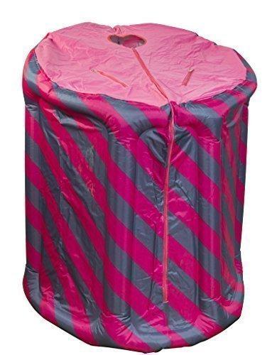 Tragbare Dampfsauna pink/blau aufblasbar, mit Dampferzeuger 2 Liter, 1000 Watt, mit drahtloser Fernbedienung, elektronisch geregelt