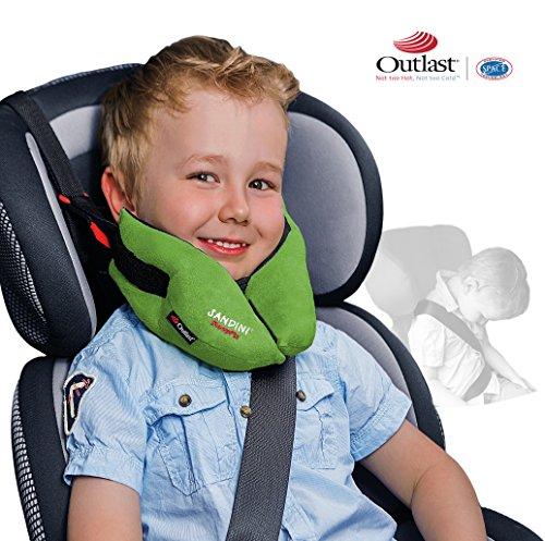 SANDINI SleepFix Kids Outlast – Kinder Schlafkissen/Nackenkissen mit Stützfunktion und Temperaturausgleich – Kindersitz-Zubehör für Auto/Fahrrad/Reise – Verhindert Abkippen des Kopfes im Schlaf