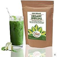 Biologoco Polvere Spirulina, le migliori alghe blu, completo di proteine vegetali superfood, con vitamine, minerali e Amminoacidi | 500g | per Nutri Superfood