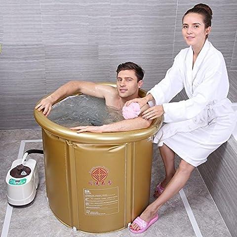 XLHGG Erwachsene Faltende PVC-Badewanne Aufblasbare Dampf-Sauna-Kasten-Haus Khan-Dampf-Raum-Sauna-Familien-Raum-Dampf-Maschine Begasungs-Maschine , (Familien Gemeinsam Auf Weihnachten)