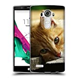 Just Phone Cases Schutz Hülle TPU Case Schutzhülle Silikon Tasche Dünn Transparent // V00004287 Katze liegend auf Holzbrettern // LG G4 H815